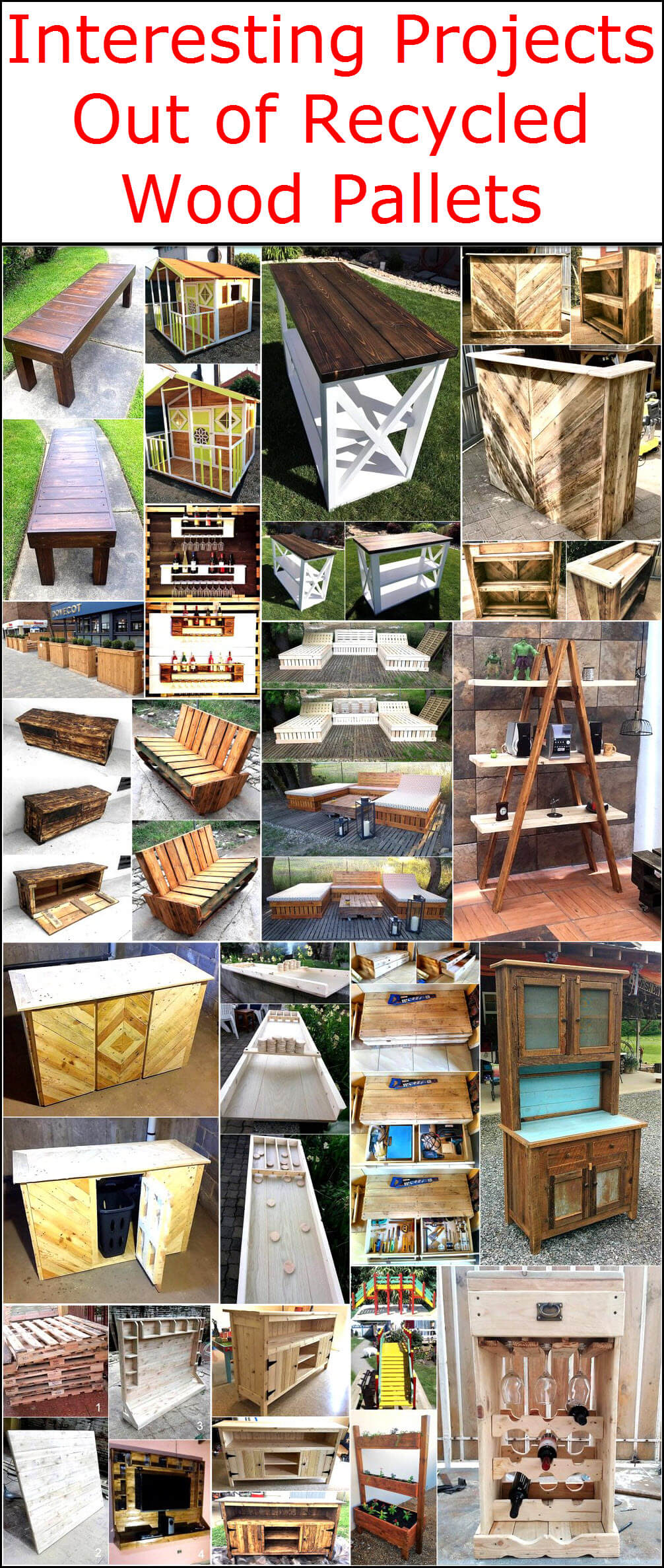 Interesting Projects Out of Recycled Wood Pallets
