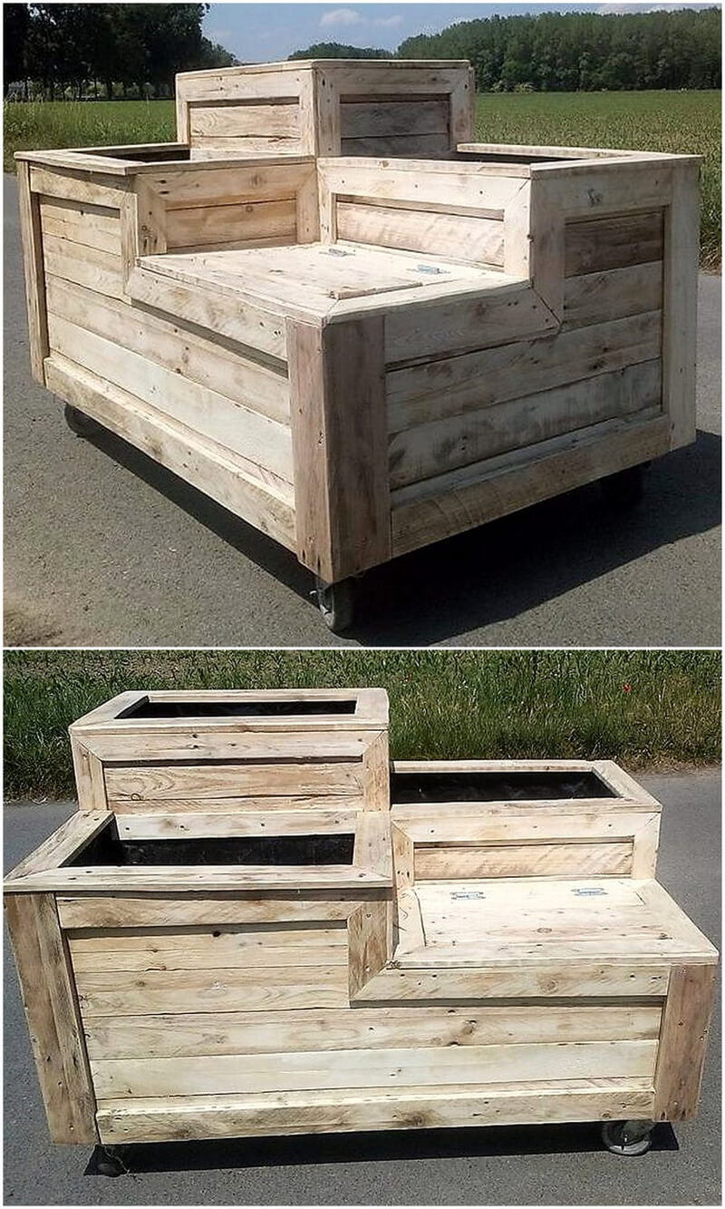 Pallets Multi-Tiered Gardener