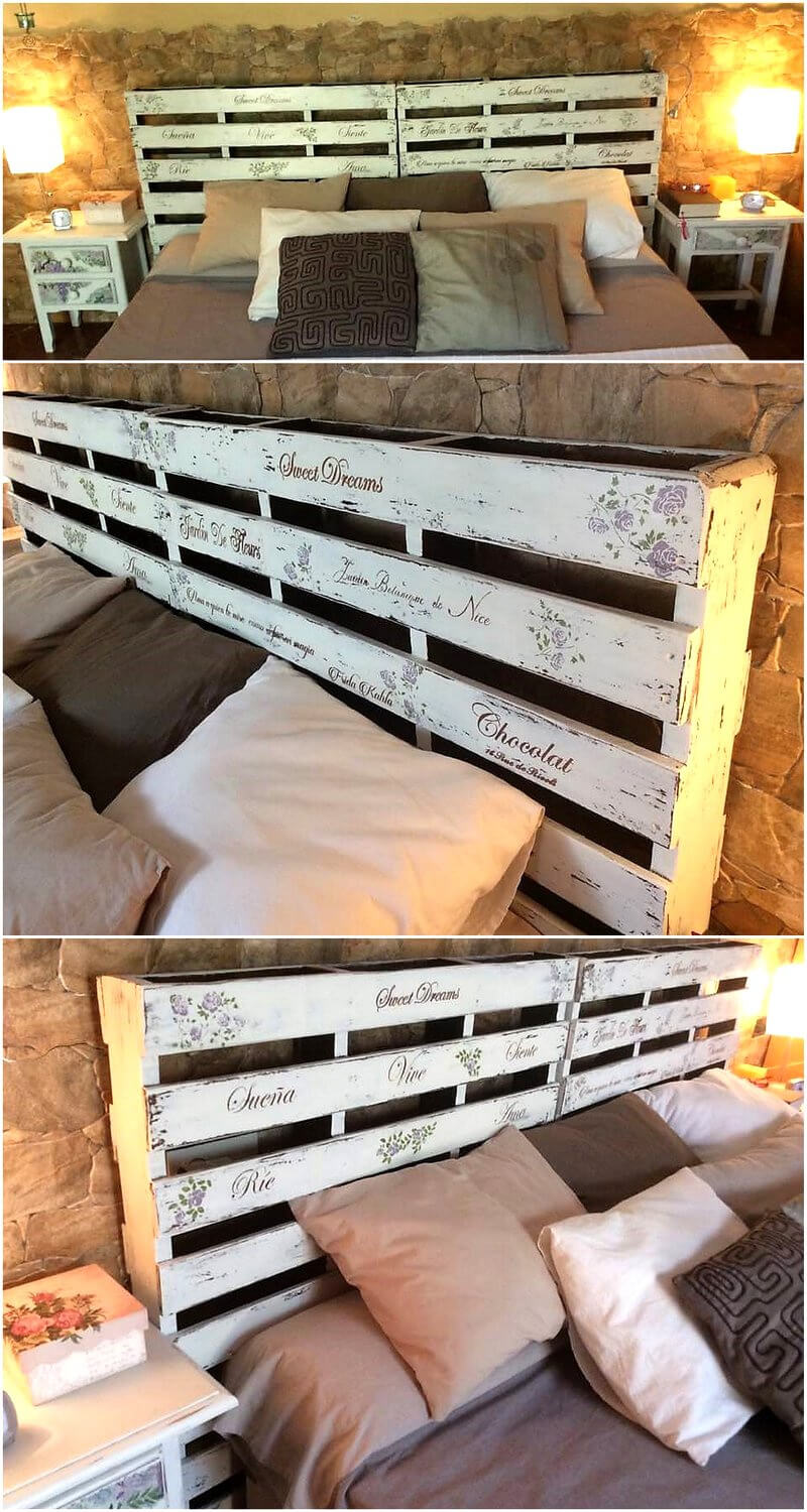 classic pallet bed headboard