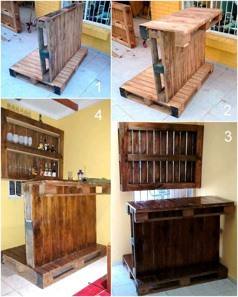 diy simple wood pallet bar