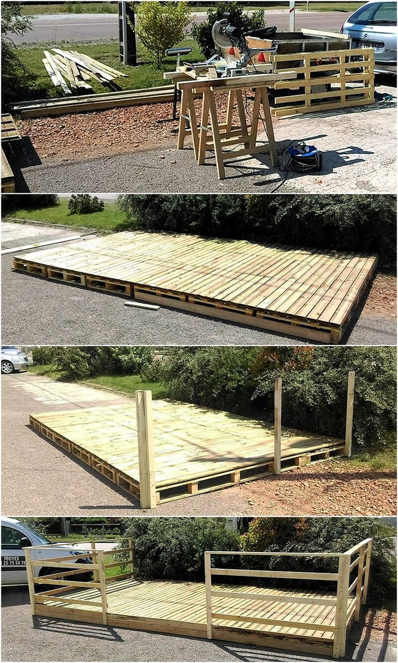 Diy Wood Pallet Patio Deck