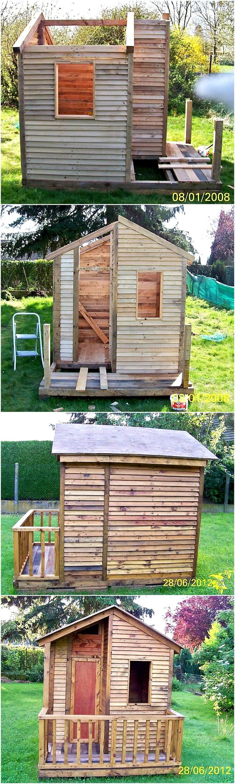 diy wood pallets garden cabin
