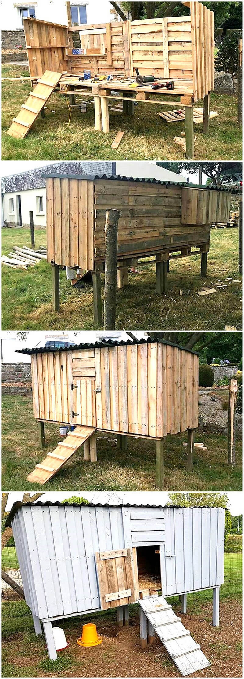 diy wooden pallet Henhouse
