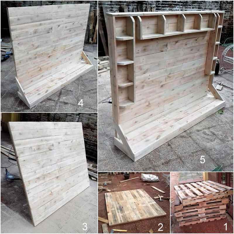 diy wooden pallet shelving wall hanging cabinet