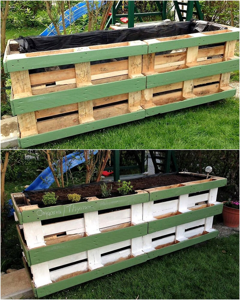 diy wooden pallets planter