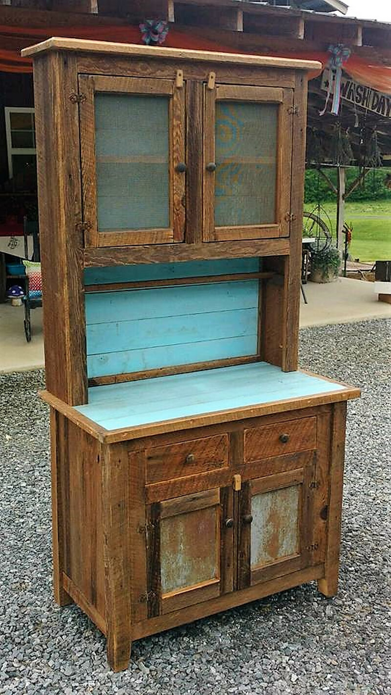 pallets cabinet for kitchen