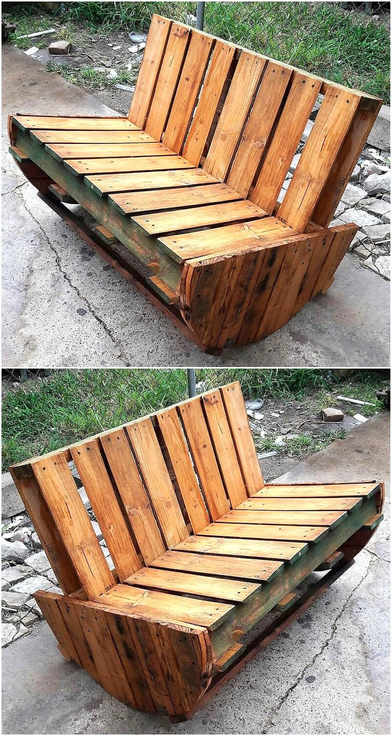 pallets cable reel recycled bench