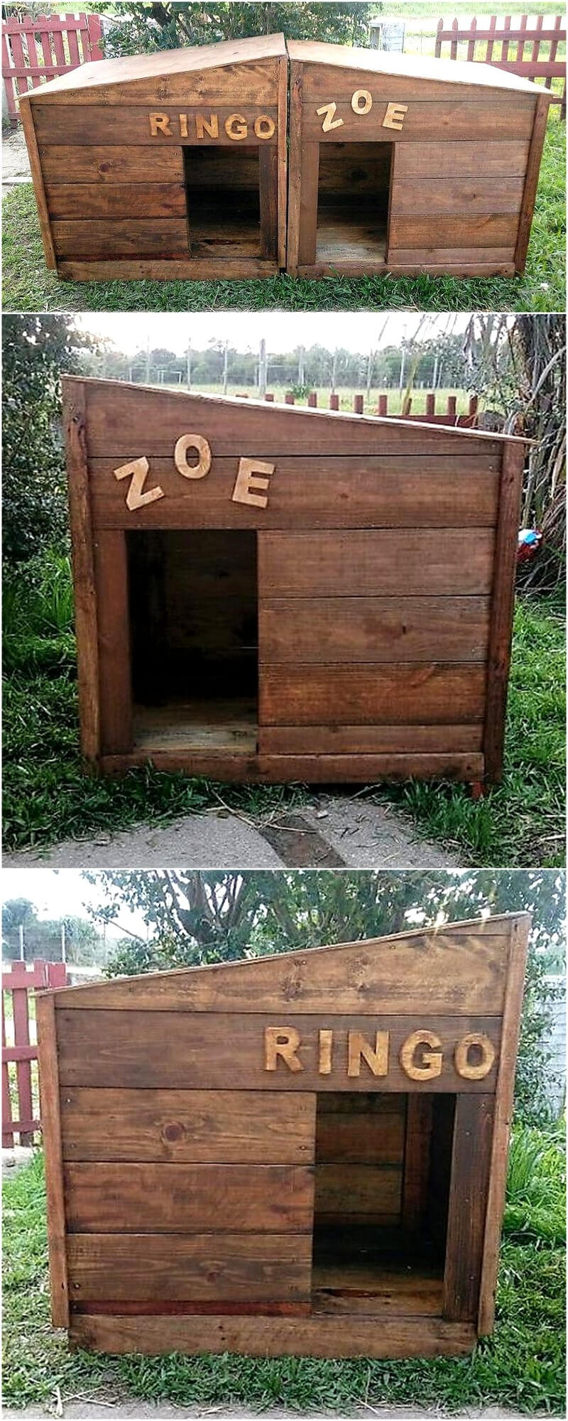 pallets dog houses