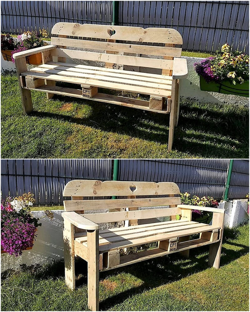 pallets garden bench idea