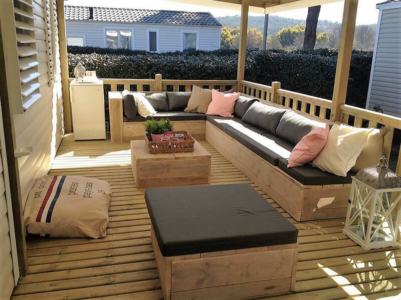 pallets patio deck furniture plan