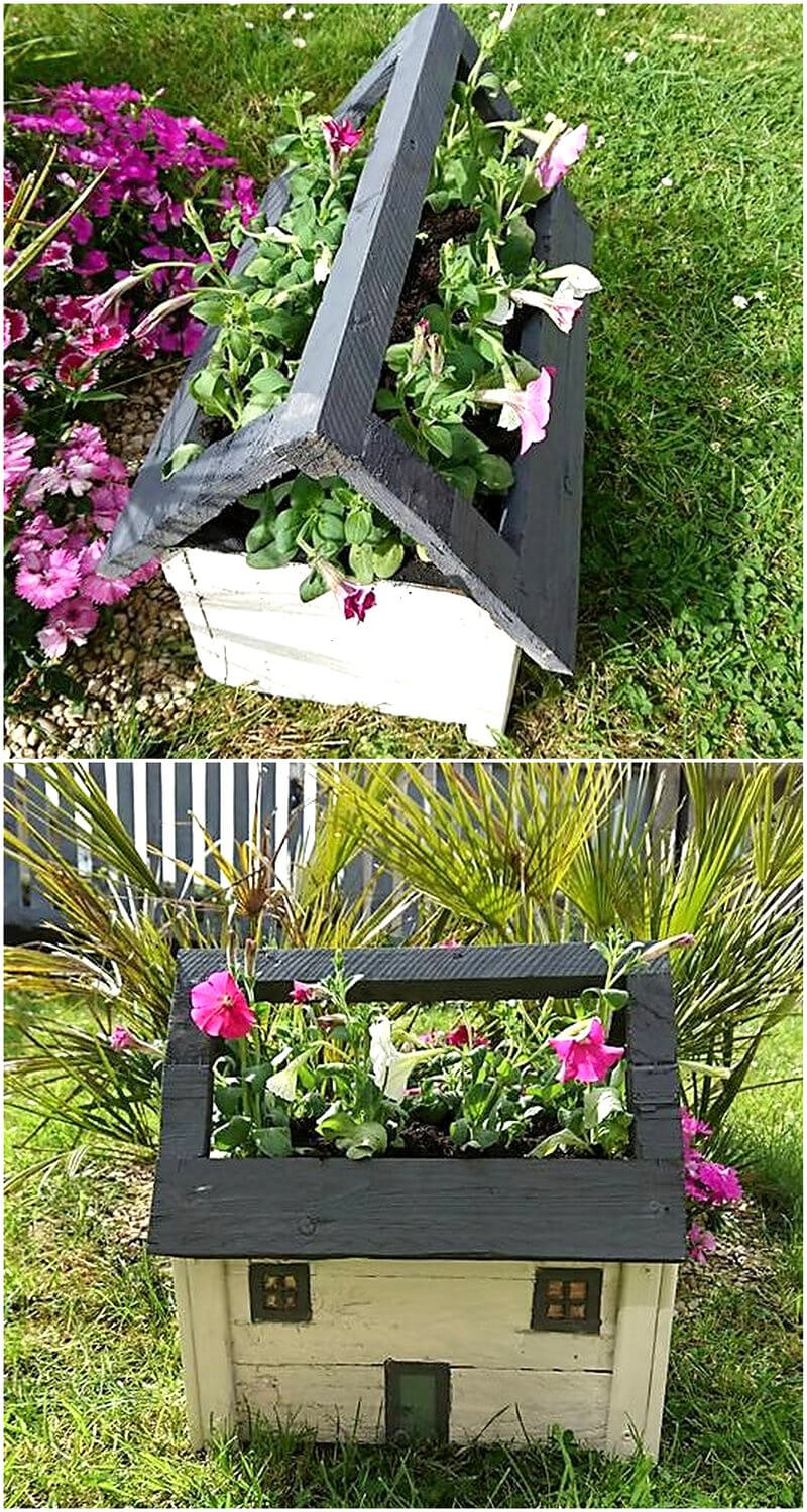 pallets wood planter idea