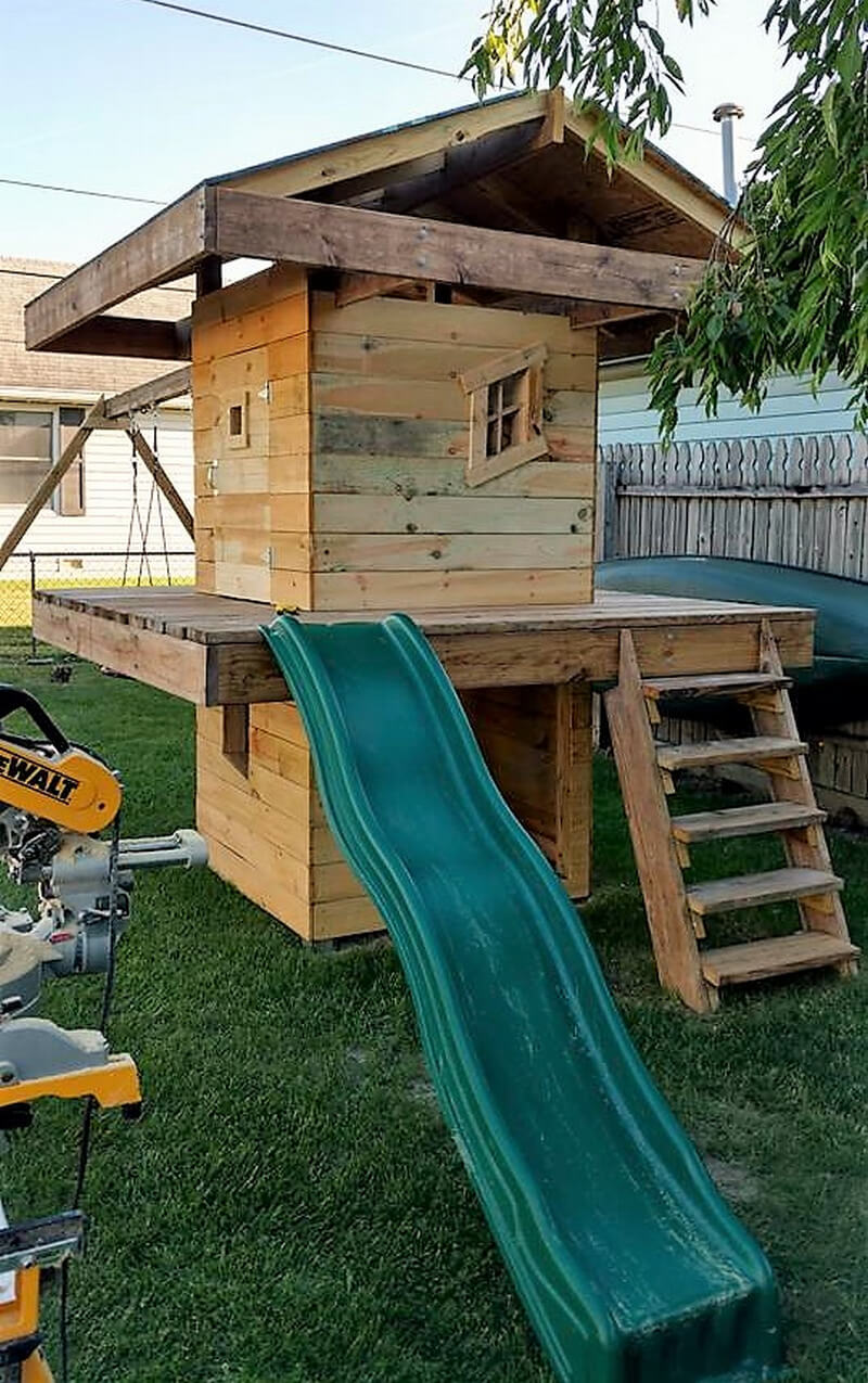 pallets wooden kids play house