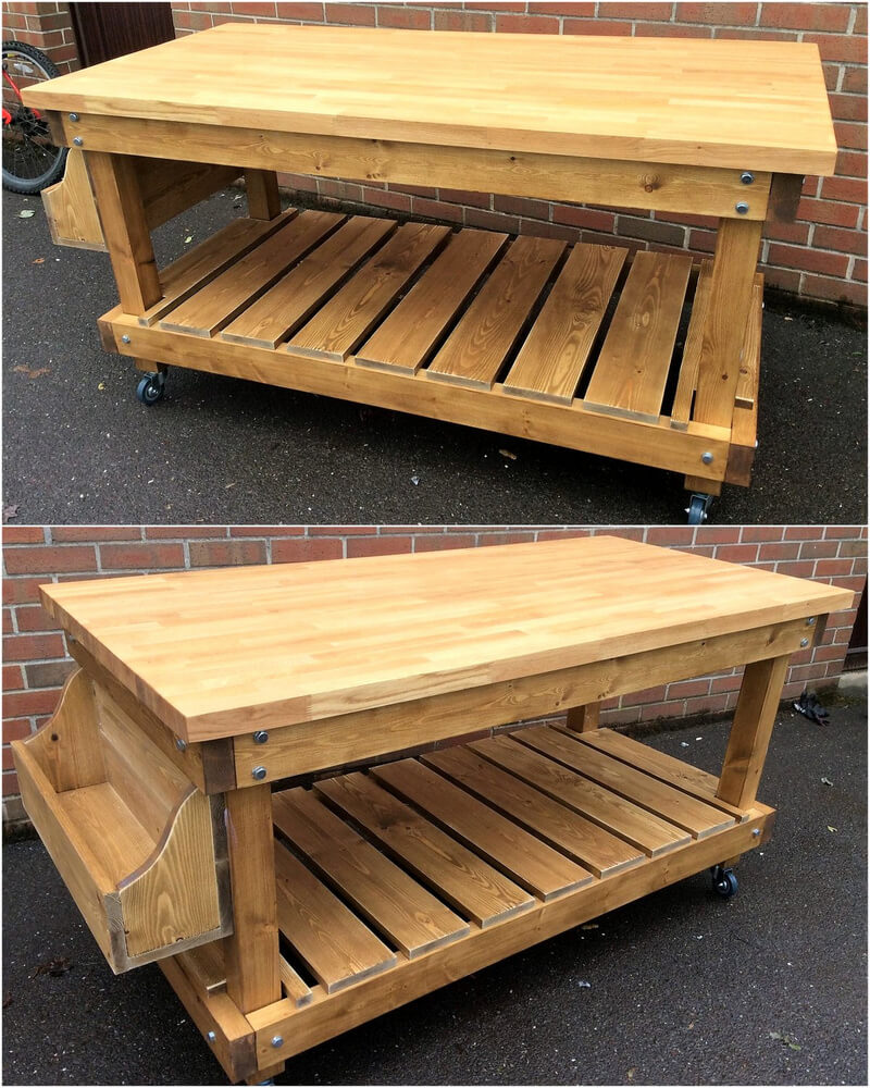 Cute and neat wood pallet recycling ideas pallet ideas for Movable pallets