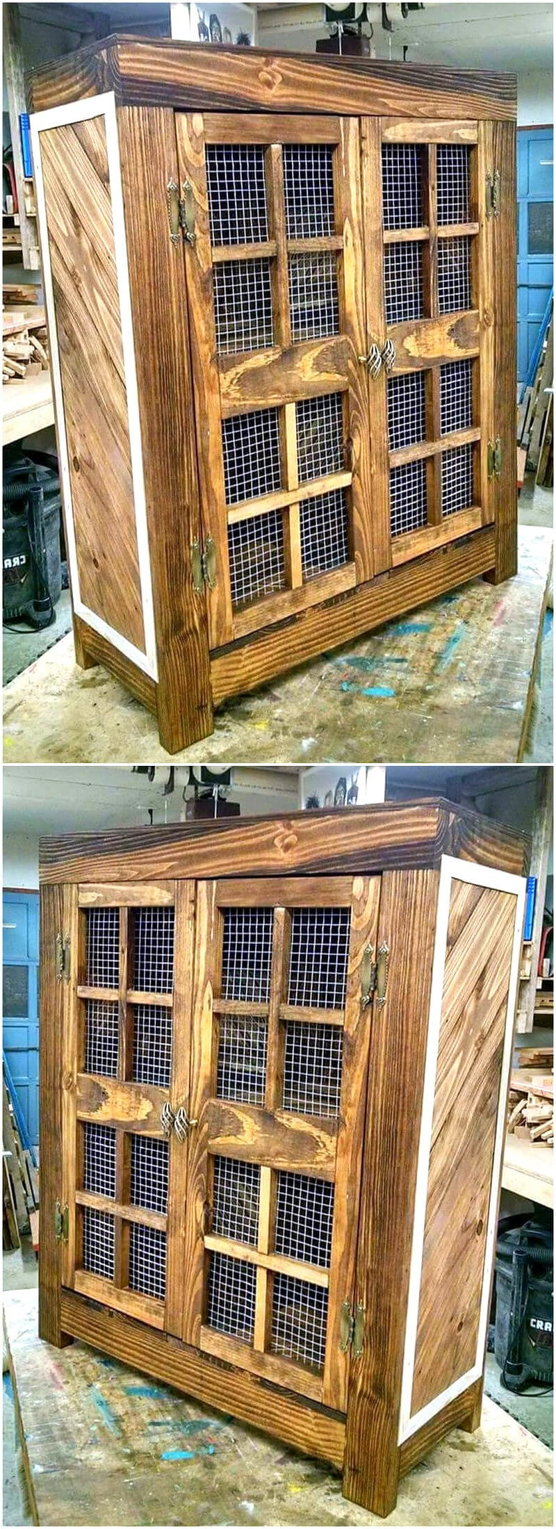 pallets wooden storage cabinet