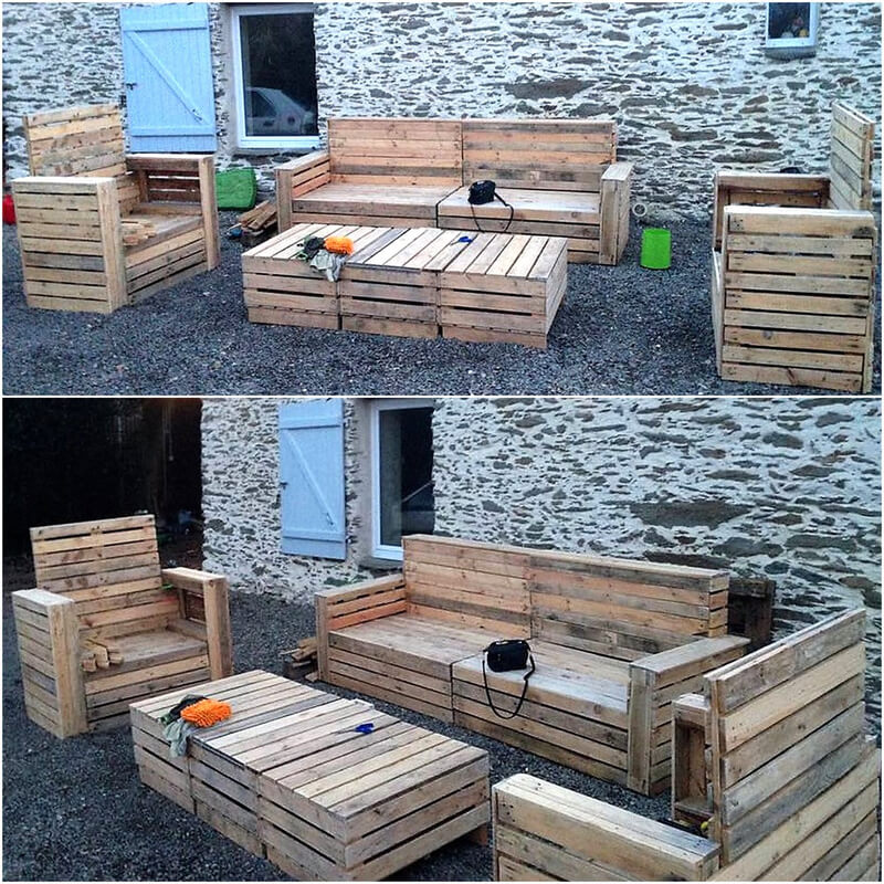 reccyled pallets outdoor furniture