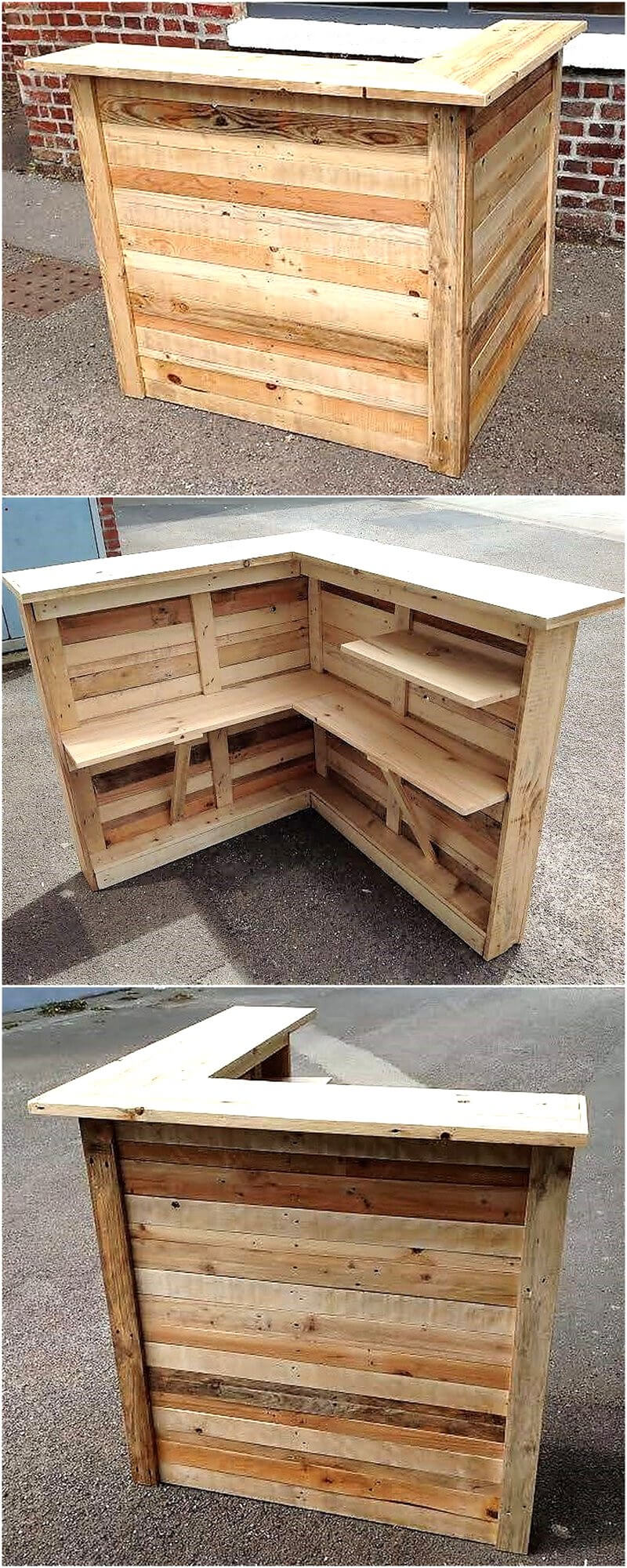 reccyled wood pallet bar