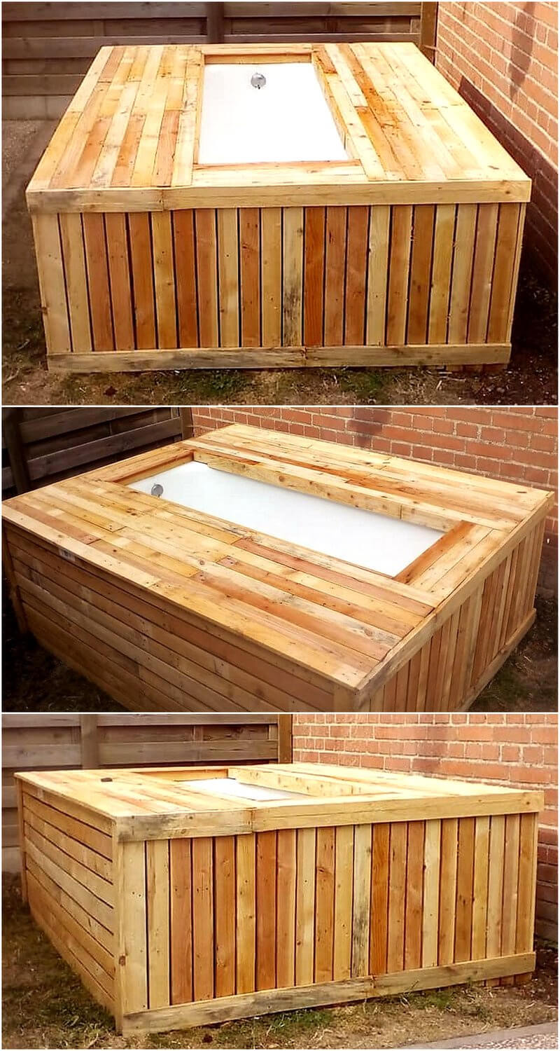 recycled pallet pool for fish