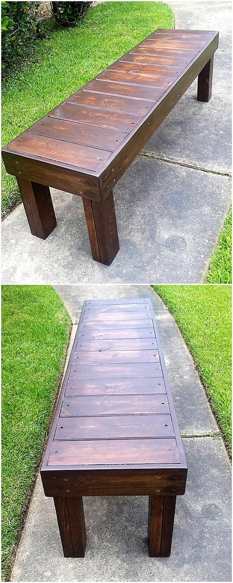 recycled pallets dining or entry way bench