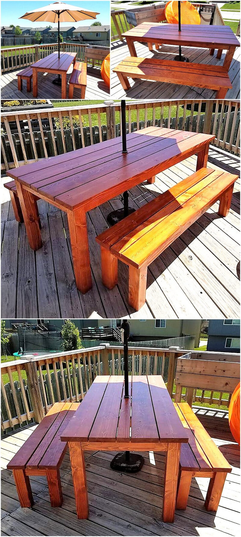 recycled pallets made patio table