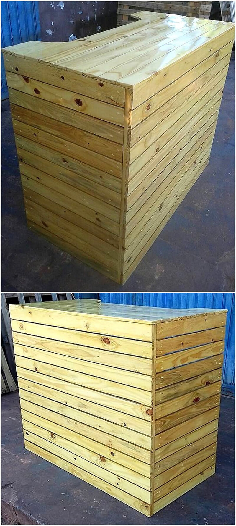 recycled wood pallet bar