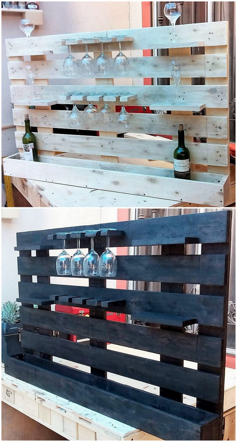 recycled wooden pallet bar plan