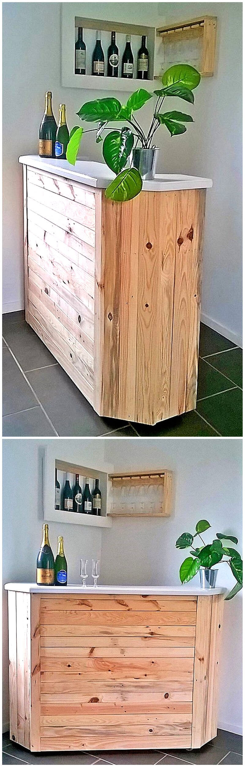 repurposed pallets bar plan