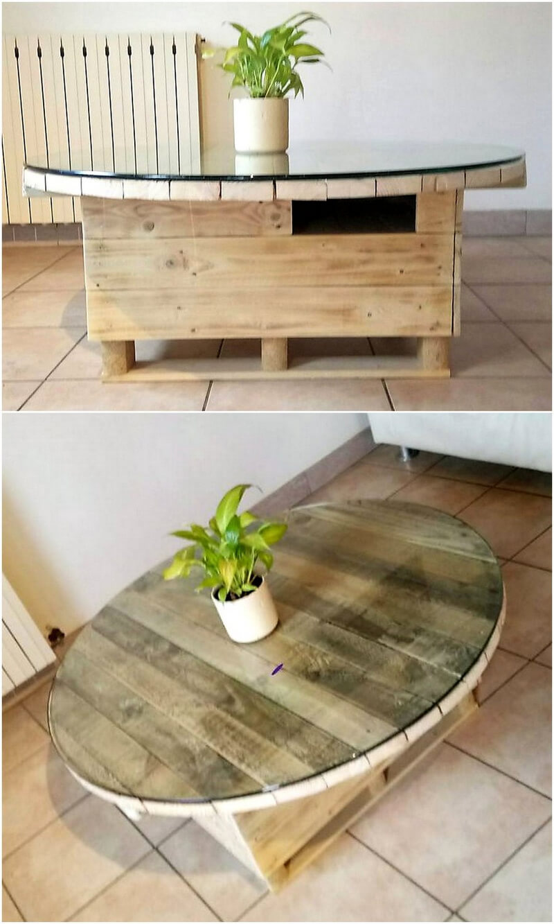 repurposed pallets table plan