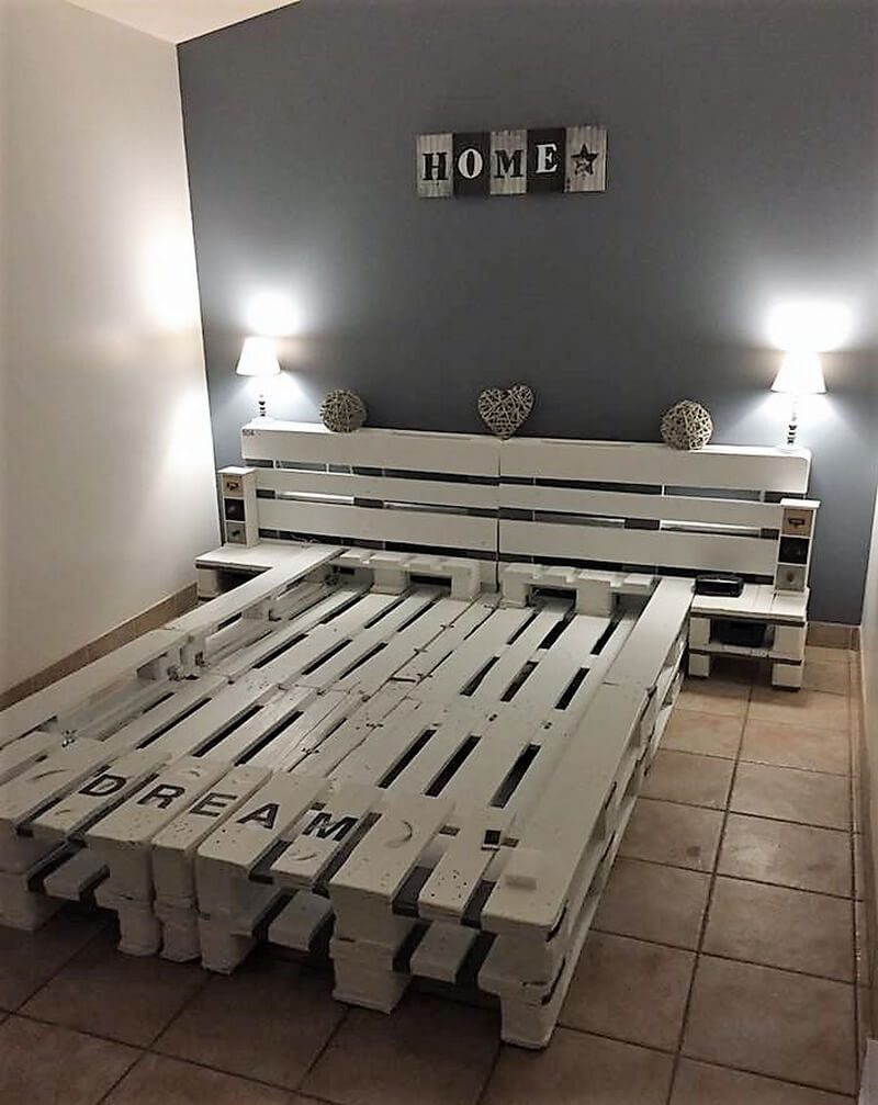 repurposed wood pallet bed frame - Wood Pallet Bed Frame