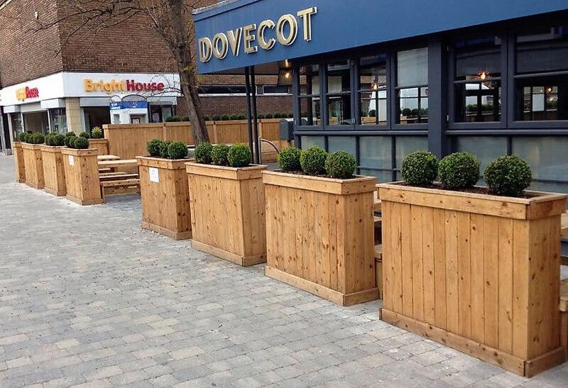repurposed wooden pallet planters