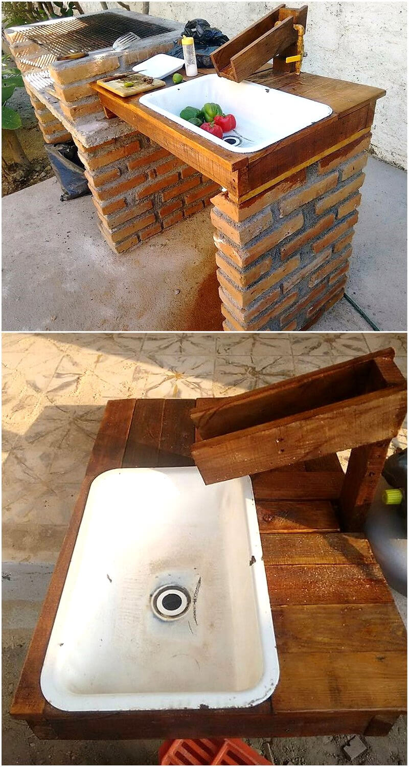 simple pallets sink idea