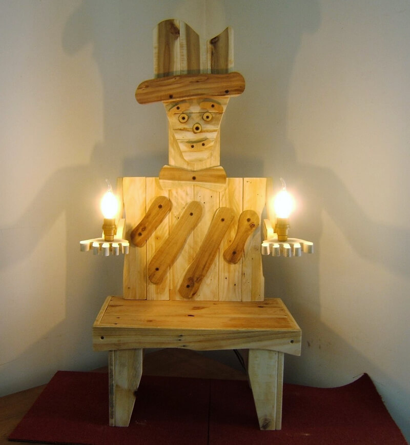 wood pallet Lamp art
