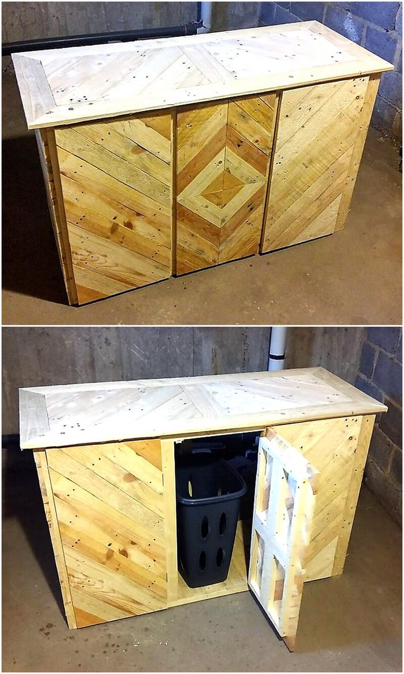wood pallet Laundry idea