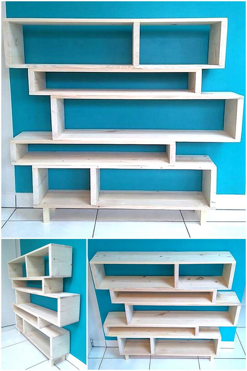 wood pallet shelving plan