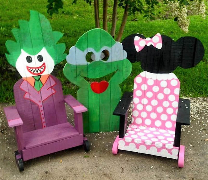 wood pallets kids chairs idea