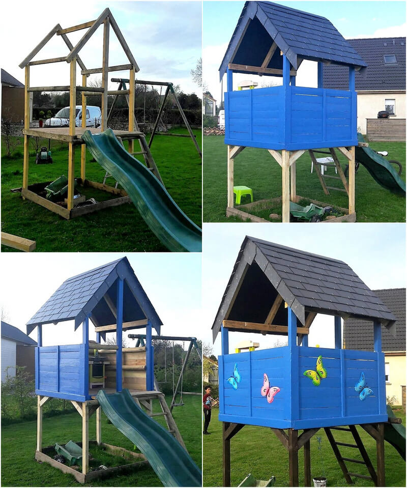 wood pallets kids playland