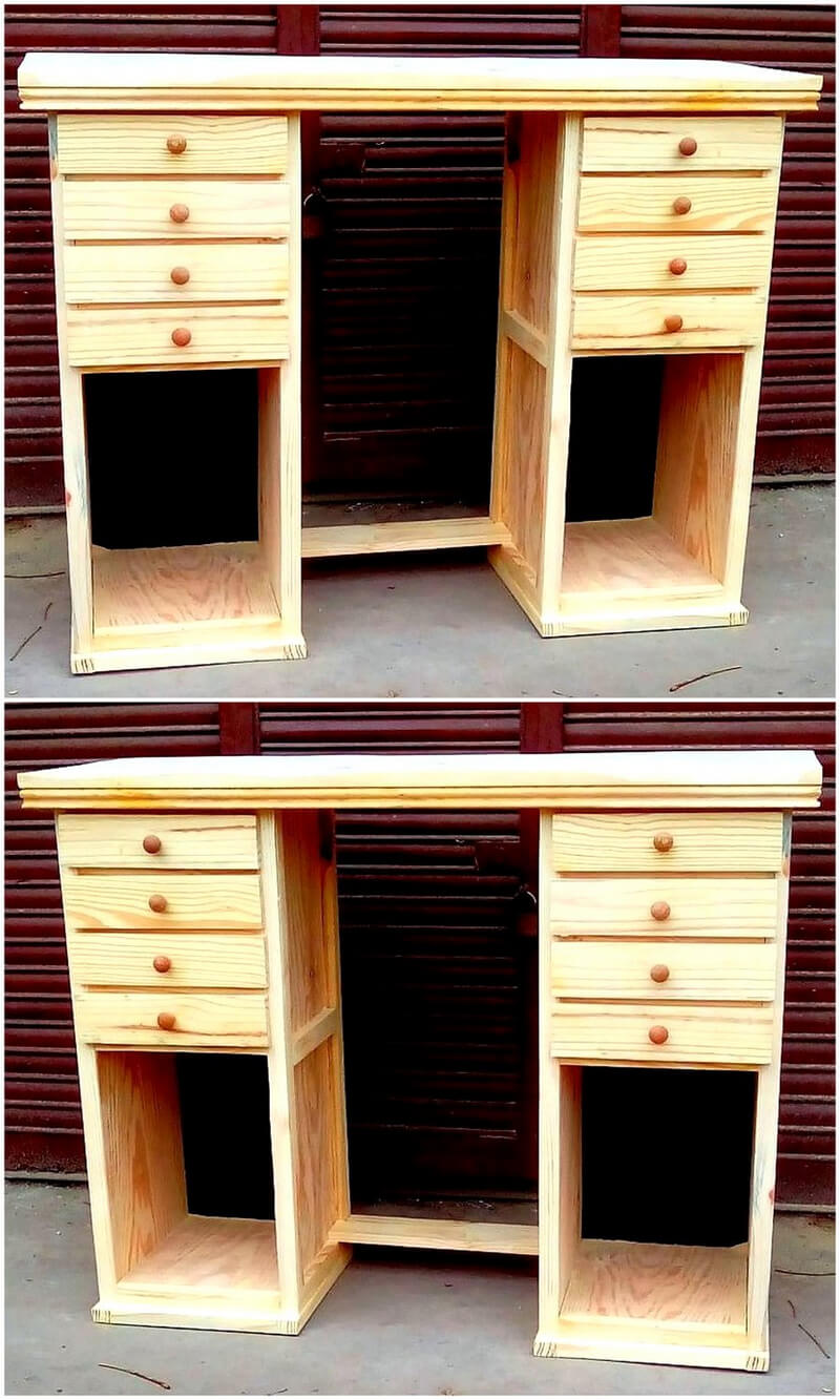 wooden pallet hairdresser cabinet
