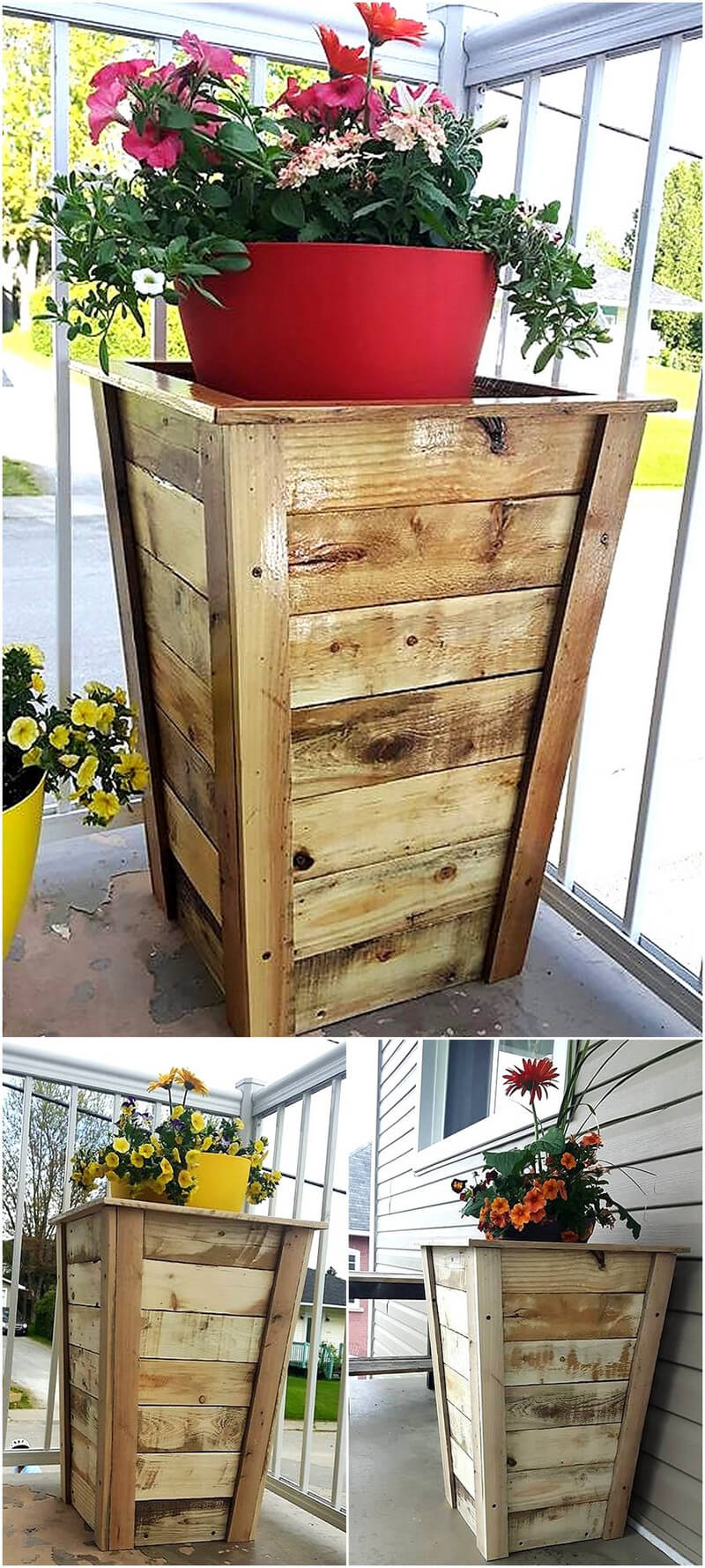 wooden pallets planter boxes