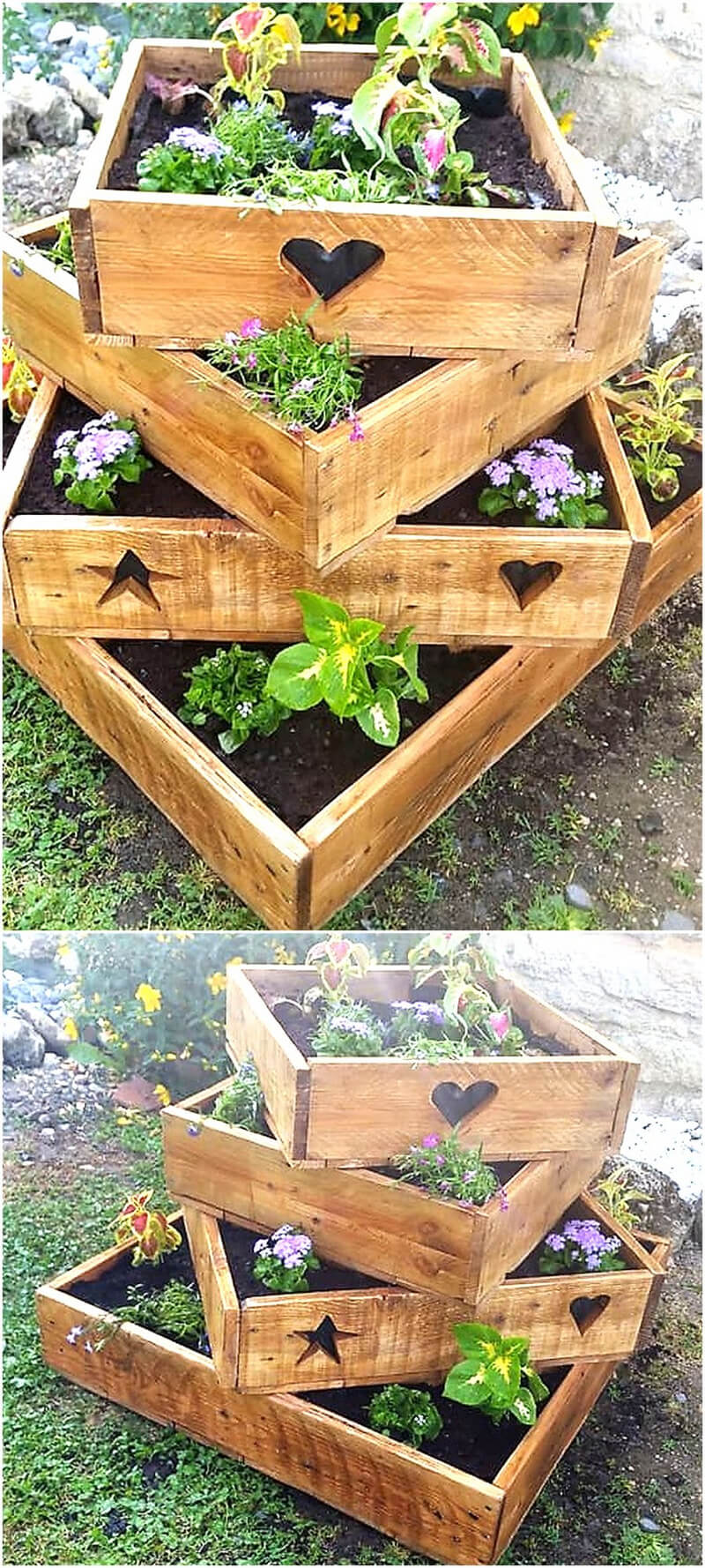wooden pallets planter