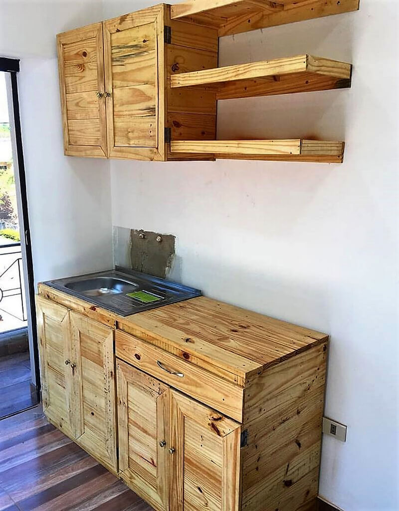 Recycled Pallets Wood Kitchen Works