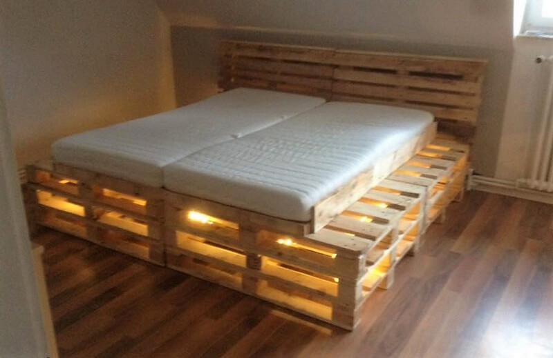 diy pallet bed plan