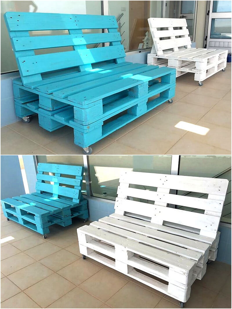 pallet couch seats on wheels