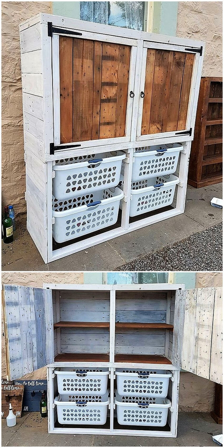 pallet laundry cupboard