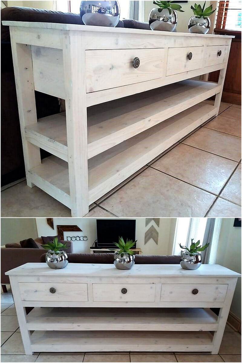 pallet side table idea
