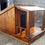 Reused Pallet Wood Made Dog House