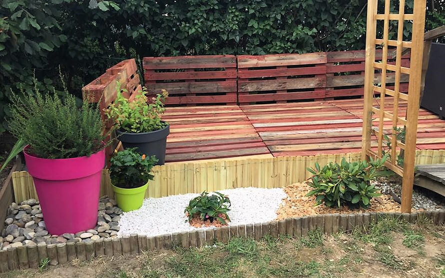 pallets garden deck terrace