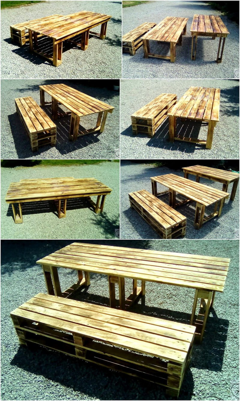 pallets garden furniture plan