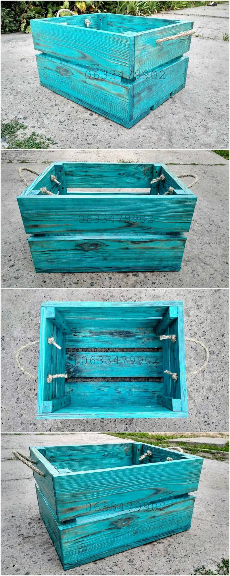 pallets rustic storage box