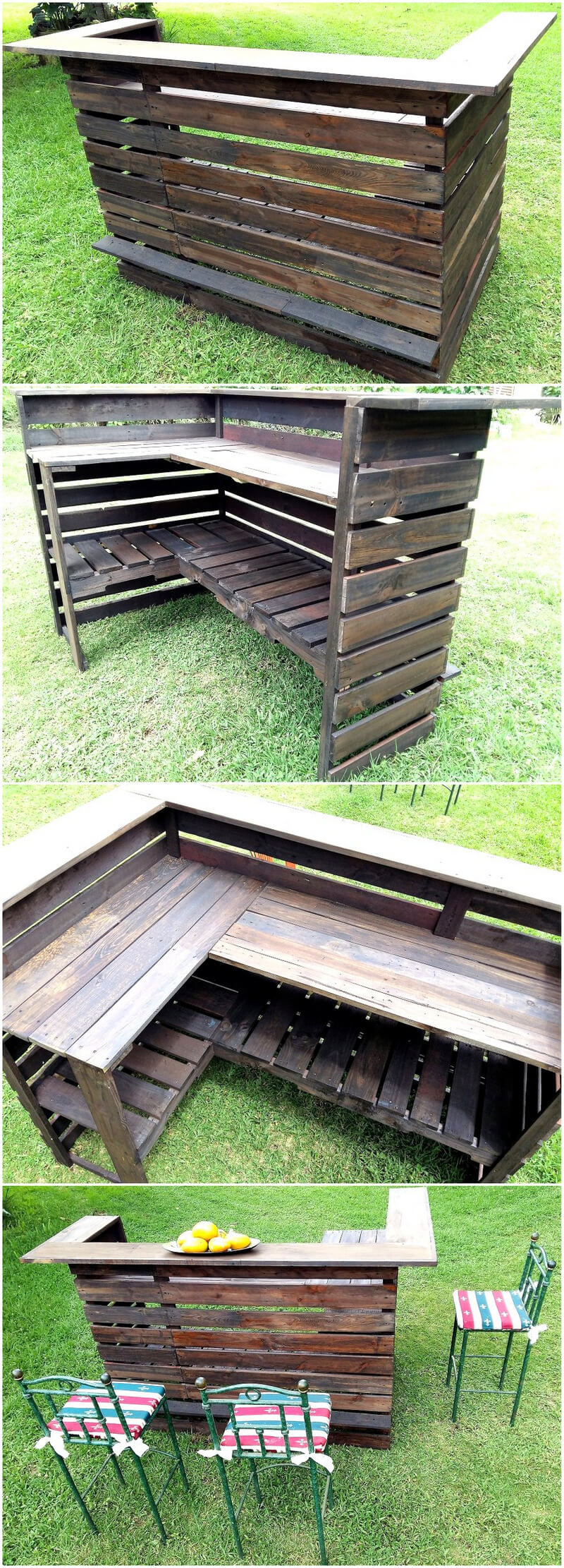 pallets wood made bar plan