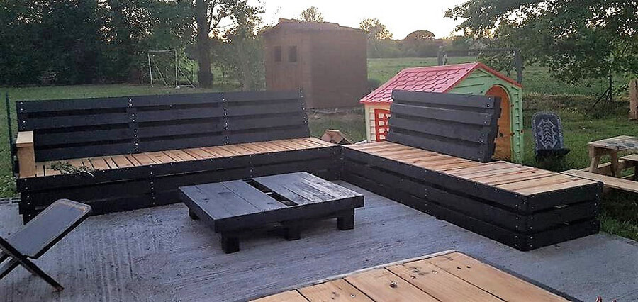 Recycled Pallet Patio Couch 5
