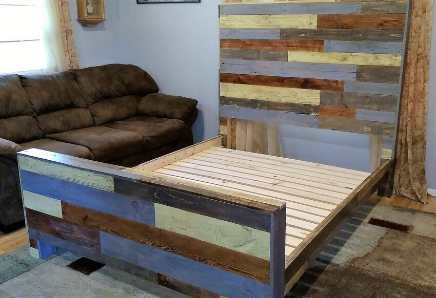 recycled wooden pallets